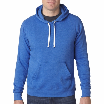 J. America Men's Sweatshirt: Tri-Blend Hooded (J8871)