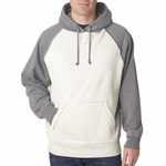 J. America Men's Sweatshirt: Vintage Two Toned Hooded (J8885)
