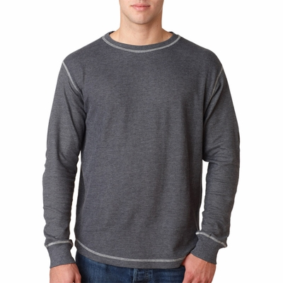 J. America Men's Thermal Shirt: 100% Cotton Vintage Long Sleeve (J8238)