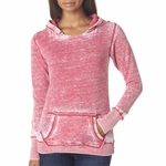 J. America Women's Sweatshirt: Cotton/Poly Zen Vintage Hooded Pullover (J8912)