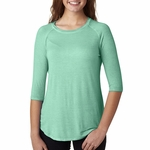 J8232 J.America Ladies' Oasis Wash 3/4-Sleeve Tee