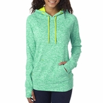 J8616 J.America Ladies' Cosmic Contrast Hooded Fleece
