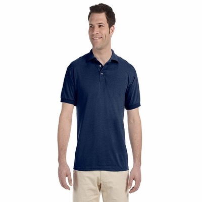 JERZEES Men's Polo Shirt: 5.6 oz. 50/50 Blended Jersey (J300)