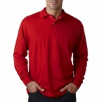 JERZEES Men's Polo Shirt: Long-Sleeve Jersey with SpotShield (437L)