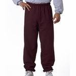 JERZEES Men's Sweatpants: 8 oz. 50 Cotton/ 50 Poly No Pockets (973)