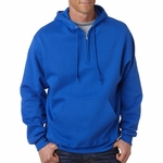 JERZEES Men's Sweatshirt: 50/50 Hooded 1/4 Zip (994)