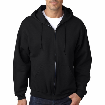JERZEES Men's Sweatshirt: 9.5 oz. Super Sweats 50/50 Full-Zip Hood (4999)