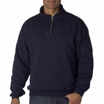JERZEES Men's Sweatshirt: 9.5 oz. Super Sweats 50/50 Quarter-Zip Pullover (4528)