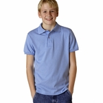 JERZEES Youth Polo Shirt: 5.6 oz. 50/50 Jersey with SpotShield (437Y)