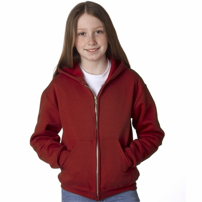 JERZEES Youth Sweatshirt: 8 oz. 50/50 Full-Zip Hood (993B)