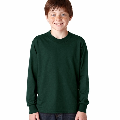JERZEES Youth T-Shirt: 5.6 oz. 50/50 Heavyweight Blend Long-Sleeve (29BL)