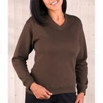 LAT Sportswear Women's Sweatshirt: French Terry V-Neck Pullover (3653)