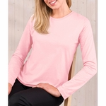 LAT Sportswear Women's T-Shirt: 100% Cotton Ringspun Long-Sleeve (3588)