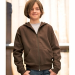 LAT Sportswear Youth Sweatshirt: Hooded Full Zip w/ Pockets (2246)