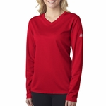 NB7119L New Balance NDurance Ladies' Athletic Long-Sleeve V-Neck T-Shirt