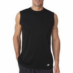 New Balance Men's T-Shirt: 100% Polyester Birdseye Knit Flatback Pique Mesh Sleeveless (NB7117)