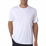 New Balance Men's T-Shirt: 100% Polyester Birdseye Pique Knit Flatback Mesh NDurance Athletic (N7118)