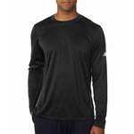 New Balance Men's T-Shirt: 100% Polyester Birdseye Pique Knit Flatback Mesh Tempo Long-Sleeve Performance (NB9119)