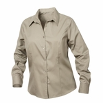 New Wave Women's Twill Shirt: 55% cotton, 45% polyester  Long Sleeve (LNW00003)
