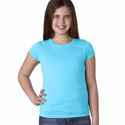 Next Level Girls T-Shirt: 100% Cotton Jersey Princess Short Sleeve Crewneck (3710)