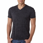 Next Level Men�s T-Shirt: Poly/Cotton Jersey Blend Burnout Short Sleeve V-Neck (6140)