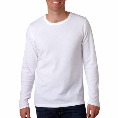 Next Level Men's T-Shirt: Cotton/Poly Blend Long-Sleeve Thermal (N8101)