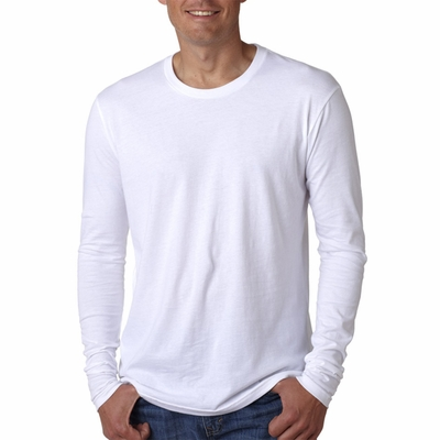 Next Level Men's T-Shirt: 100% Combed Cotton Fine Jersey Fitted Long Sleeve Crewneck (N3601)