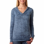 Next Level Women's Sweatshirt: Poly/Cotton Jersey Blend Burnout Hoodie (6521)