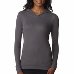 Next Level Women's Sweatshirt: Combed Cotton/Poly Baby Thermal Long Sleeve Hoodie (8021)