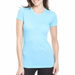 Next Level Women's T-Shirt: 100% Combed Cotton Perfect Cap Sleeve Crewneck (3300L)