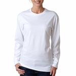 Next Level Women's T-Shirt: 100% Combed Cotton Long Sleeve Crewneck (3301L)