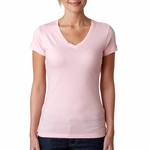 Next Level Women's T-Shirt: 100% Combed Cotton Sporty Short Sleeve V-Neck (3400L)