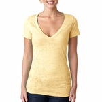 Next Level Women�s T-Shirt: Poly/Cotton Jersey Short Sleeve Deep V-Neck (6540)