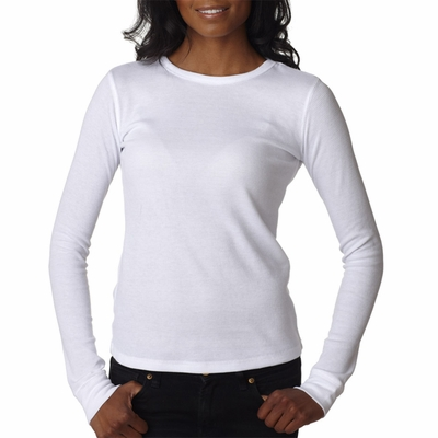 Next Level Women's T-Shirt: Preshrunk Cotton/Poly Baby Thermal Blend Soft Long Sleeve Thermal (N8001)