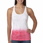 Next Level Women's Tank Top: Poly/Cotton Jersey Blend 1X1 Baby Rib-Knit Ombre Burnout Razor (6532)