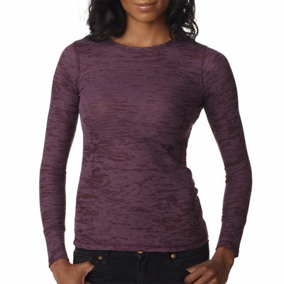 Next Level Women's Thermal Shirt: 50/50 Cotton/Poly Burnout (N8511)