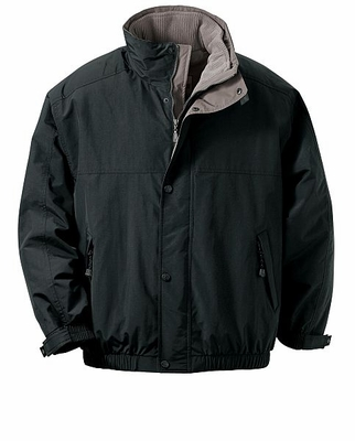 North End Men's Jacket: 3-In-1 Hooded Bomber With Storm Flap (88009)