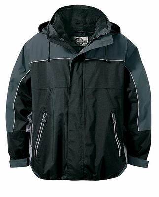 North End Men's Jacket: 3-In-1 Two-Tone Waterproof Hooded Mid-Length (88052)