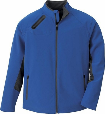 North End Men's Jacket: 3-Layer Weather Technology Full-Zip Soft Shell (88621)