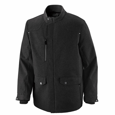 North End Men's Jacket: Bonded Full Zip Textured Soft Shell (88672)