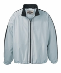North End Men's Jacket: Contrast Stripe Full-Zip Activewear (88081)
