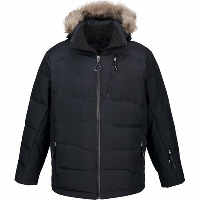 North End Men's Jacket: Down Water Resistant w/ Detachable Fur Trim on Hood (88179)