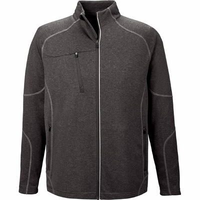 North End Men's Jacket: Full-Zip Lightweight Performance Fleece w/ Reflective Piping (88174)