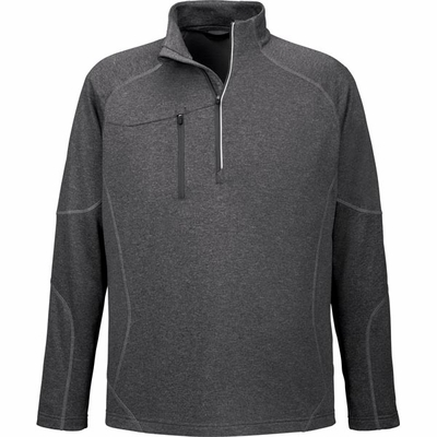 North End Men's Jacket: Half-Zip Performance Fleece w/ Reflective Piping (88175)