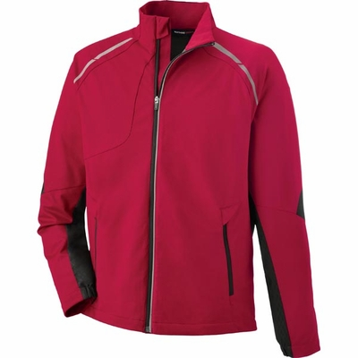 North End Men's Jacket: Lightweight Bonded Performance Hybrid w/ Reflective Piping (88654)