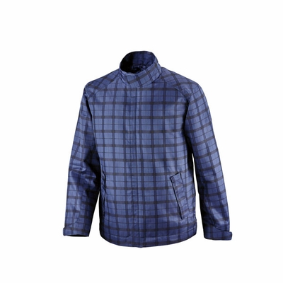North End Men's Jacket: Lightweight Plaid Print (88671)