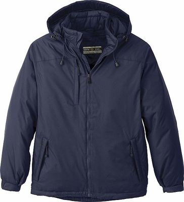 North End Men's Jacket: Nylon Ripstop Hi-Loft Insulated With Hood (88137)