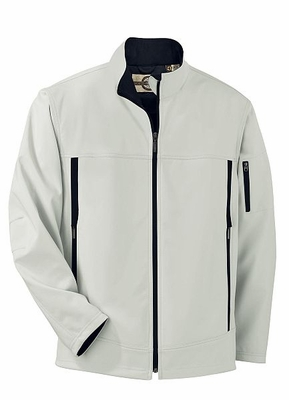 Men's Three-Layer Fleece Bonded Performance Soft Shell Jacket: (88099)