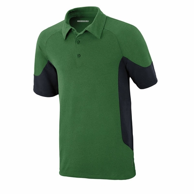 North End Men's Polo Shirt: Performance Jersey w/ Mesh Color Blocking (88677)