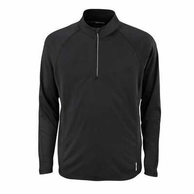 North End Men's Sweatshirt: Half Zip Bridseye Mesh Athletic Pullover (88187)